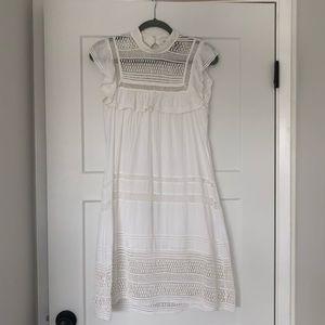 White Cotton SEA sleeveless ruffle dress size 6 🌸